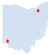 Map of Total ID Solutions Ohio locations