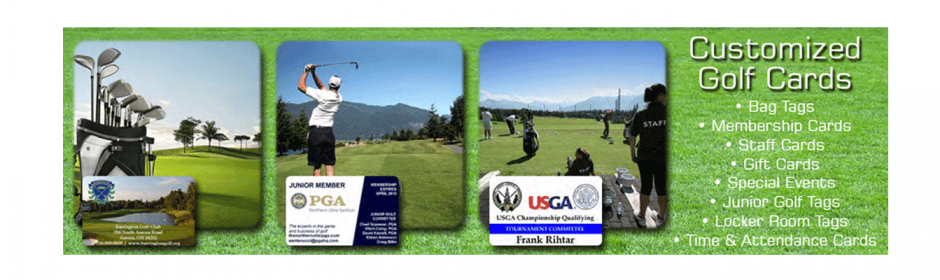 Print golf card on-demand image