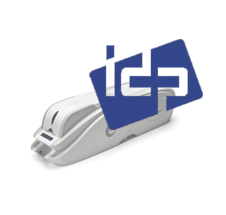 IDP plastic card printer with logo